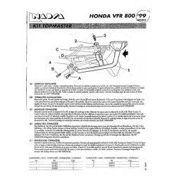 SHAD - CSOMAGTARTÓ HONDA VFR 800 FI 1999-01
