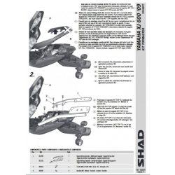 SHAD - CSOMAGTARTÓ YAMAHA XJ 600 N/S/F ABS 2009-16
