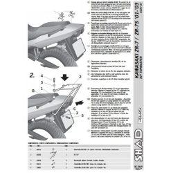 SHAD - CSOMAGTARTÓ KAWASAKI ZR-7 / ZR-7 S 2001-2005