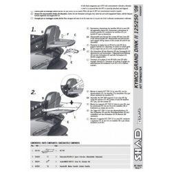 SHAD - CSOMAGTARTÓ KYMCO GRAND DINK 125 00-15 / GRAND DINK 150 00-15 / GRAND DINK 250 00-15