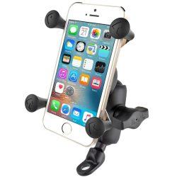 RAM MOUNT Komplett telefon tartó szett tükörhöz vagy csavarhoz (max. 9mm), RÖVID karral
